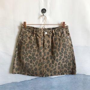 Blank NYC Cheetah Printed Mini Skirt in Catwalk